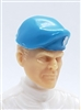 "Headgear: Beret LIGHT BLUE with BLUE Trim Version - 1:18 Scale Modular MTF Accessory for 3-3/4"" Action Figures"