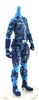 "MTF Female Valkyries Body WITHOUT Head BLUE CAMO ""Chimera-Ops"" Version BASIC - 1:18 Scale Marauder Task Force Action Figure"