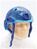 "Headgear: Half-Shell Helmet BLUE CAMO Version - 1:18 Scale Modular MTF Accessory for 3-3/4"" Action Figures"