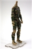 "MTF Female Valkyries Body WITHOUT Head TAN/GREEN/BROWN Camo ""Recon-Ops"" Version BASIC - 1:18 Scale Marauder Task Force Action Figure"