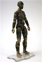 "MTF Female Valkyries with Balaclava Head TAN/GREEN/BROWN Camo ""Recon-Ops"" Version BASIC - 1:18 Scale Marauder Task Force Action Figure"