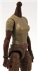 MTF Female Valkyries T-Shirt Torso ONLY (NO WAIST/LEGS): TAN & GREEN Version with DARK Skin Tone - 1:18 Scale Marauder Task Force Accessory