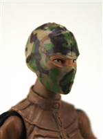 "Female Head: Balaclava Mask Camo TAN/GREEN/BROWN Version - 1:18 Scale MTF Valkyries Accessory for 3-3/4"" Action Figures"