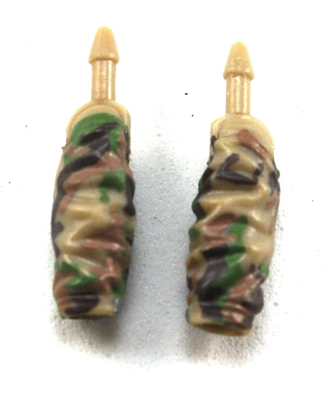 Female Forearms: TanGreen/Brown Camo Cloth Forearms (NO Armor) - Right AND Left (Pair) - 1:18 Scale MTF Vakyries Accessory for 3-3/4