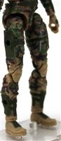 "Female Legs WITH Waist: TAN-GREEN-BROWN CAMO Legs  - Right AND Left Legs WITH Waist - 1:18 Scale MTF Valkyries Accessory for 3-3/4"" Action Figures"