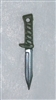 "Fighting Knife: GREEN Handle - 1:18 Scale Modular MTF Accessory for 3-3/4"" Action Figures"
