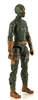 "MTF Female Valkyries with Balaclava Head GREEN with BROWN ""Range-Ops"" Version BASIC - 1:18 Scale Marauder Task Force Action Figure"