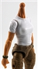 MTF Female Valkyries T-Shirt Torso ONLY (NO WAIST/LEGS): WHITE & GREEN Version with LIGHT Skin Tone - 1:18 Scale Marauder Task Force Accessory