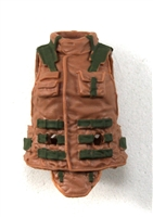 "Female Vest: High Collar Type Brown & Green Version - 1:18 Scale Modular MTF Valkyries Accessory for 3-3/4"" Action Figures"