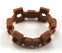 "Web Belt: BROWN Version - 1:18 Scale Modular MTF Accessory for 3-3/4"" Action Figures"
