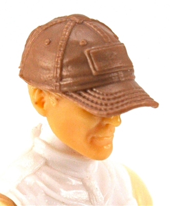 "Headgear: Baseball Cap BROWN Version - 1:18 Scale Modular MTF Accessory for 3-3/4"" Action Figures"