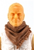 "Headgear: Large Neck Scarf ""Shemagh"" BROWN Version - 1:18 Scale Modular MTF Accessory for 3-3/4"" Action Figures"