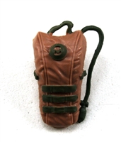 "Camel Hydration Pack: BROWN & GREEN Version - 1:18 Scale Modular MTF Accessory for 3-3/4"" Action Figures"