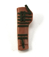 "Rifle Sheath Backpack: BROWN & GREEN Version - 1:18 Scale Modular MTF Accessory for 3-3/4"" Action Figures"