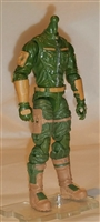"MTF Male Trooper Body WITHOUT Head GREEN with Brown ""Range-Ops"" CLOTH Legs (No Leg Armor) - 1:18 Scale Marauder Task Force Action Figure"