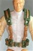 "Male Vest: Harness Rig GREEN with Brown Version - 1:18 Scale Modular MTF Accessory for 3-3/4"" Action Figures"