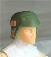 "Headgear: Armor Helmet GREEN & Brown Version - 1:18 Scale Modular MTF Accessory for 3-3/4"" Action Figures"