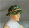 "Headgear: Boonie Hat GREEN & Brown Version - 1:18 Scale Modular MTF Accessory for 3-3/4"" Action Figures"