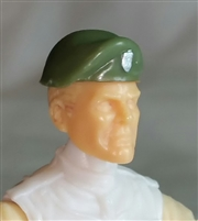 "Headgear: Beret GREEN & Brown Version - 1:18 Scale Modular MTF Accessory for 3-3/4"" Action Figures"