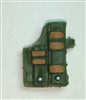 "Pistol Holster: Large Right Handed with Loop GREEN & Brown Version - 1:18 Scale Modular MTF Accessory for 3-3/4"" Action Figures"