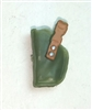 "Pistol Holster: Small Left Handed GREEN & Brown Version - 1:18 Scale Modular MTF Accessory for 3-3/4"" Action Figures"
