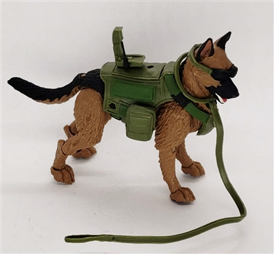 "DELUXE MTF K9 Dog Unit: ""Jaeger"" Tan & Black German Sheperd - 1:18 Scale Marauder Task Force Animal & Gear Set"