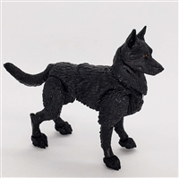 "MTF K9 Dog Unit: ""Wraith"" ALL Black Version BASIC - 1:18 Scale Marauder Task Force Animal"