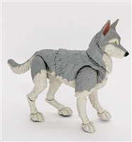"MTF K9 Dog Unit: ""Lupin"" Gray & White Version BASIC - 1:18 Scale Marauder Task Force Animal"