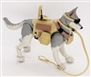 "DELUXE MTF K9 Dog Unit: ""Lupin"" Gray & White - 1:18 Scale Marauder Task Force Animal & Gear Set"