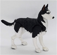 "MTF K9 Dog Unit: ""Pavlov"" Black & White Husky Version BASIC - 1:18 Scale Marauder Task Force Animal"