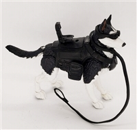 "DELUXE MTF K9 Dog Unit: ""Pavlov"" Black & White Husky - 1:18 Scale Marauder Task Force Animal & Gear Set"