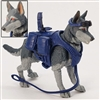 "DELUXE MTF K9 Dog Unit: ""Fenrir"" RED EYED DEMON DOG Dark Gray & Gray - 1:18 Scale Marauder Task Force Animal & Gear Set"