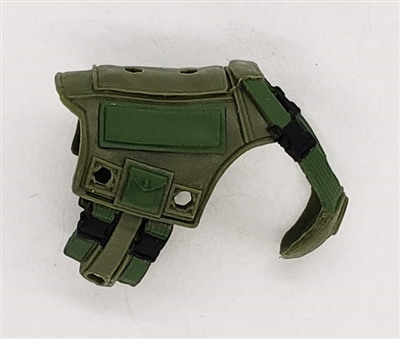 MTF K9 Dog Unit: GREEN Military Vest - 1:18 Scale Marauder Task Force Animal