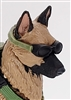 MTF K9 Dog Unit: GREEN Goggles - 1:18 Scale Marauder Task Force Animal