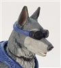 MTF K9 Dog Unit: BLUE Goggles - 1:18 Scale Marauder Task Force Animal