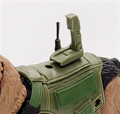 MTF K9 Dog Unit: GREEN Video Camera with Antenna - 1:18 Scale Marauder Task Force Animal