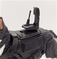 MTF K9 Dog Unit: BLACK Video Camera with Antenna - 1:18 Scale Marauder Task Force Animal
