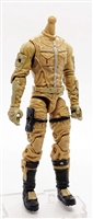 "MTF Male Trooper Body WITHOUT Head DARK TAN with Tan ""Havoc-Ops"" CLOTH Legs (No Leg Armor) - 1:18 Scale Marauder Task Force Action Figure"