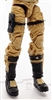 "Male Legs: DARK TAN and BLACK Cloth Legs (NO Armor) -  Right AND Left Pair-NO WAIST-LEGS ONLY  - 1:18 Scale MTF Accessory for 3-3/4"" Action Figures"