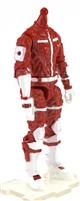 "MTF Male Trooper Body WITHOUT Head RED & WHITE ""Rescue-Ops"" Armor Leg Version BASIC - 1:18 Scale Marauder Task Force Action Figure"