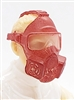 "Headgear: Gasmask ALL RED Version - 1:18 Scale Modular MTF Accessory for 3-3/4"" Action Figures"
