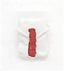"Pocket: Large Size WHITE with RED Version - 1:18 Scale Modular MTF Accessory for 3-3/4"" Action Figures"