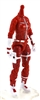"MTF Female Valkyries Body WITHOUT Head RED & WHITE ""Rescue-Ops"" Version BASIC - 1:18 Scale Marauder Task Force Action Figure"