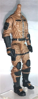 "MTF Male Trooper Body WITHOUT Head BROWN ""Terra-Ops"" Version BASIC - 1:18 Scale Marauder Task Force Action Figure"