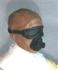 "Male Head: Mask with Goggles & Breather BROWN Version - 1:18 Scale MTF Accessory for 3-3/4"" Action Figures"