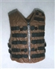 "Male Vest: Tactical Type BROWN Version - 1:18 Scale Modular MTF Accessory for 3-3/4"" Action Figures"