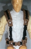 "Male Vest: Harness Rig BROWN Version - 1:18 Scale Modular MTF Accessory for 3-3/4"" Action Figures"