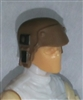 "Headgear: Armor Helmet BROWN Version - 1:18 Scale Modular MTF Accessory for 3-3/4"" Action Figures"
