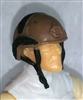 "Headgear: Half-Shell Helmet BROWN Version - 1:18 Scale Modular MTF Accessory for 3-3/4"" Action Figures"