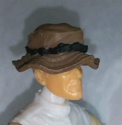 "Headgear: Boonie Hat BROWN Version - 1:18 Scale Modular MTF Accessory for 3-3/4"" Action Figures"